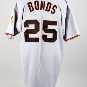 Early 2000s San Francisco Giants Barry Bonds Game-Used Road Jersey