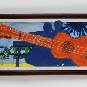 1926 - The Platt Music Company Hand-Painted Miniature Billboard (12x41) Display