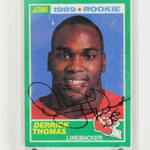 Kansas City Chiefs Derrick Thomas Signed Rookie Card