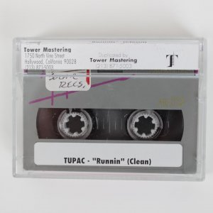 "1995 Tupac - ""Runnin"" (Clean) Digital Audio Tape (DAT) 1/1 Safety Copy"