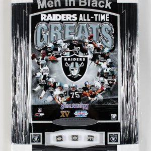 Los Angeles Raiders - 3 Time Super Bowl Champions 22x32 Ring Display