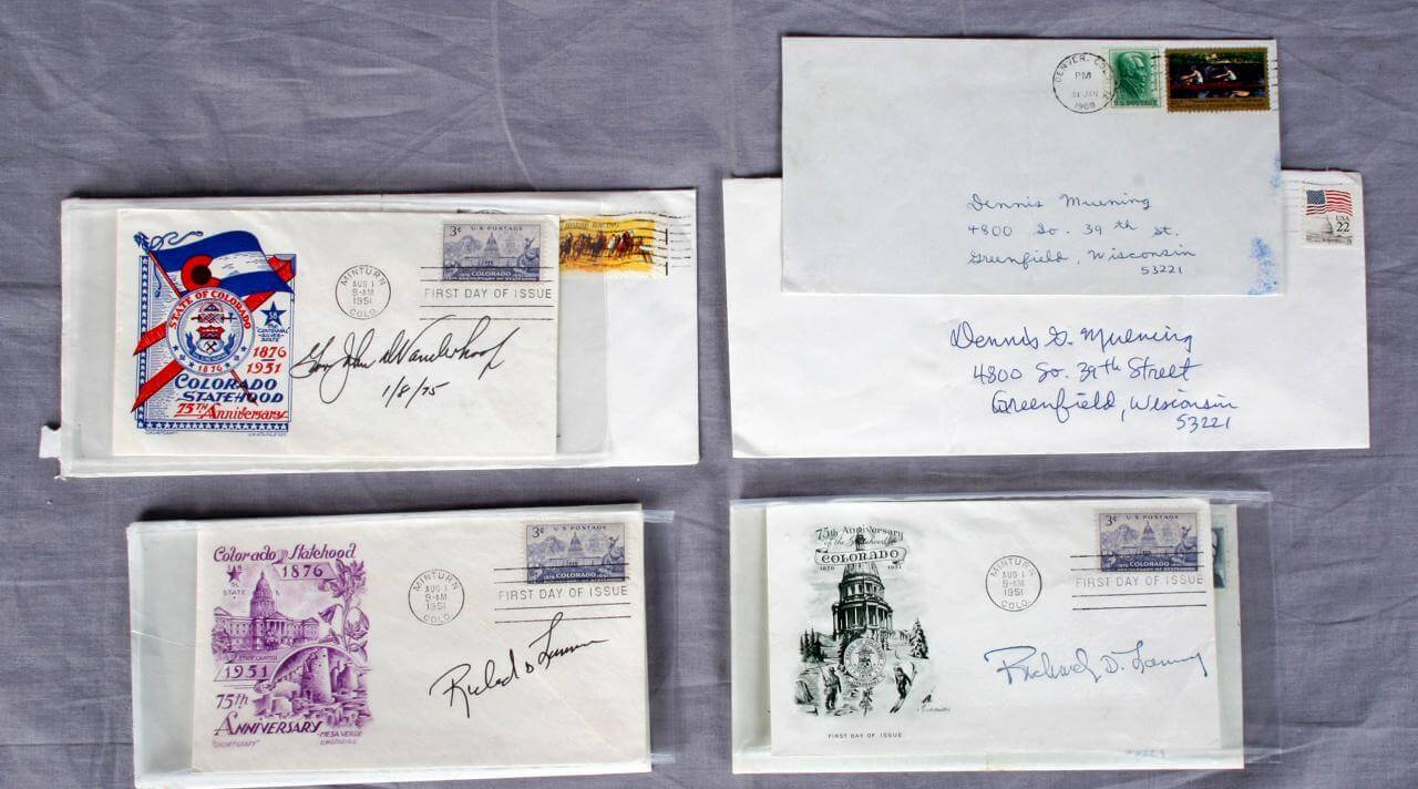 Governors of Colorado Lot Signed First Day Covers - FDCs -  Feat. (2)Richard Lamm & John Vanderhoff
