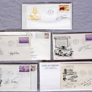 Governors of Nebraska Lot - Signed FDCs & Letters etc. - Feat. J. James Exon, Charles Thone, Kay Orr & Bob Kerrey