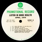 1970 Rare T.V Media Promotional Record  Listen in Good Health The Beatles,Buddy Miles,The Band