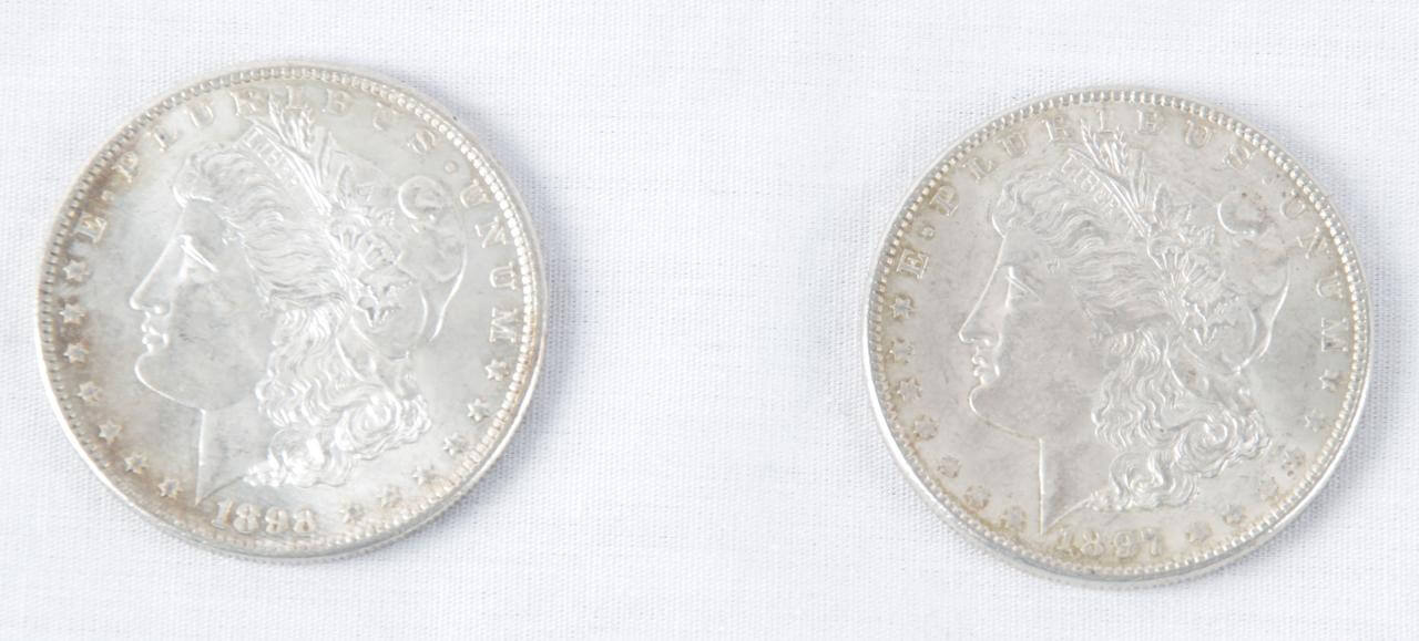 Pair 1897 & 1898 of Morgan Liberty Silver Dollars79550_01_lg
