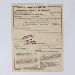 "1955 Boston Red Sox - Ted Williams Full Name Signed ""Theodore S. Williams"" Life Insurance Document"