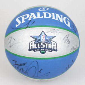 2010 NBA All-Star Team-Signed Basketball (Incl. Both East & West. 25 Sigs. Dwayne Wade, LeBron James, Chris Bosh, Derrick Rose, Kevin Durant, Kevin Garnett, Dwight Howard, Tim Duncan etc.)