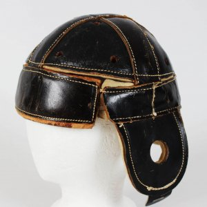1928 All-American University of Minnesota - Minneapolis Red Jackets NFL George Gibson Game-Worn Leather Helmet