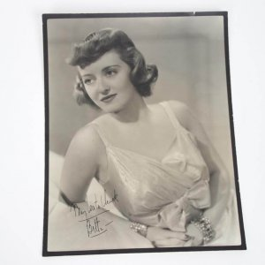 Actress - Bette Davis Signed & Inscribed 10x13 Sepia Tone Vintage Photo - JSA