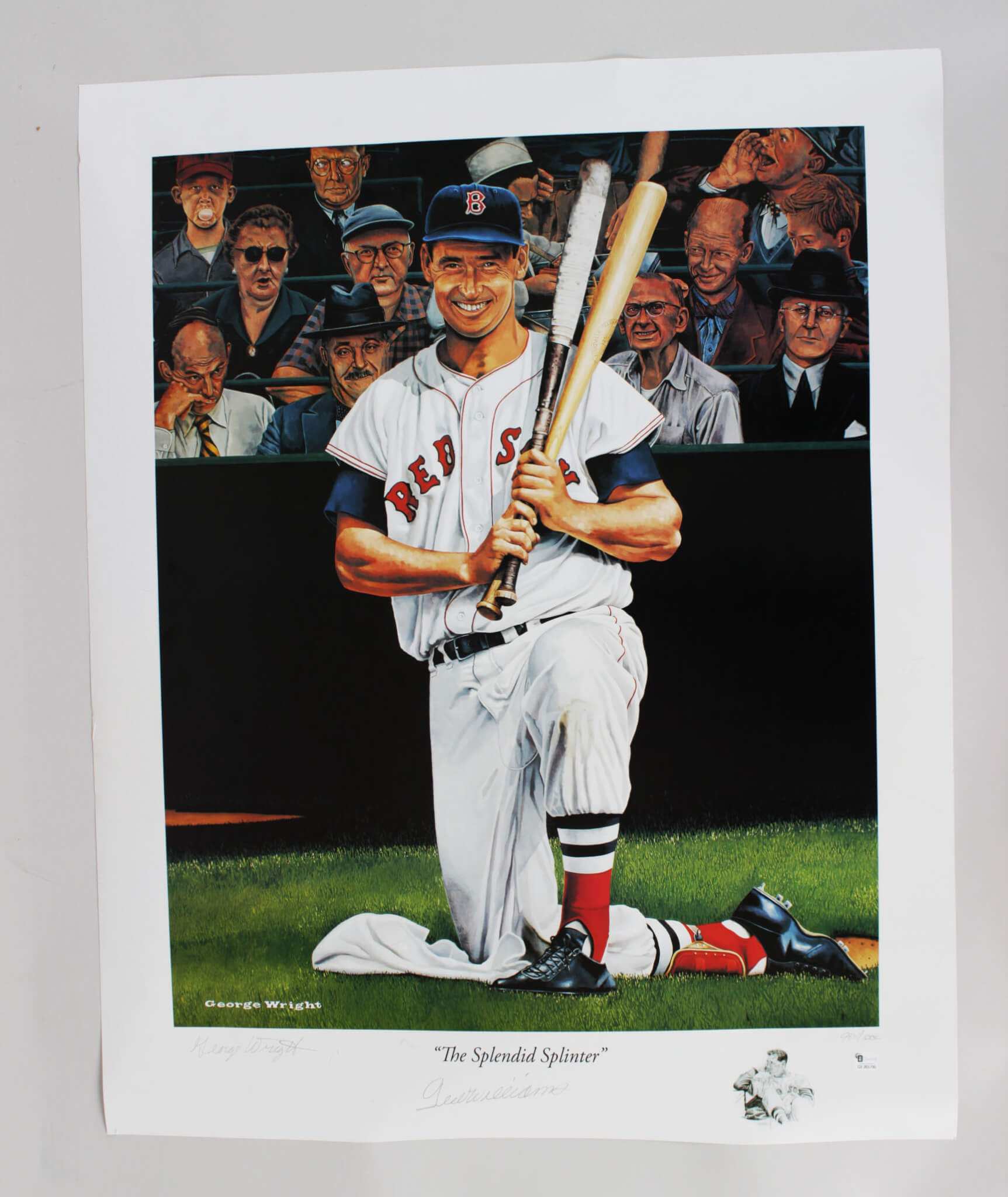 Ted Williams Signed Lithograph Red Sox - COA GAI
