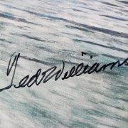 Boston Red Sox Ted Williams Signed 28x38 Armand La Montaigne Lithograph - JSA Full LOA