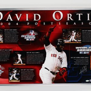 2004 Boston Red Sox David Ortiz Signed 20x32 Display