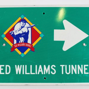 Boston Red Sox Ted Williams Tunnel Sign