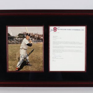 Boston Red Sox - Ted Williams Signed 17x24 Photo Display - JSA