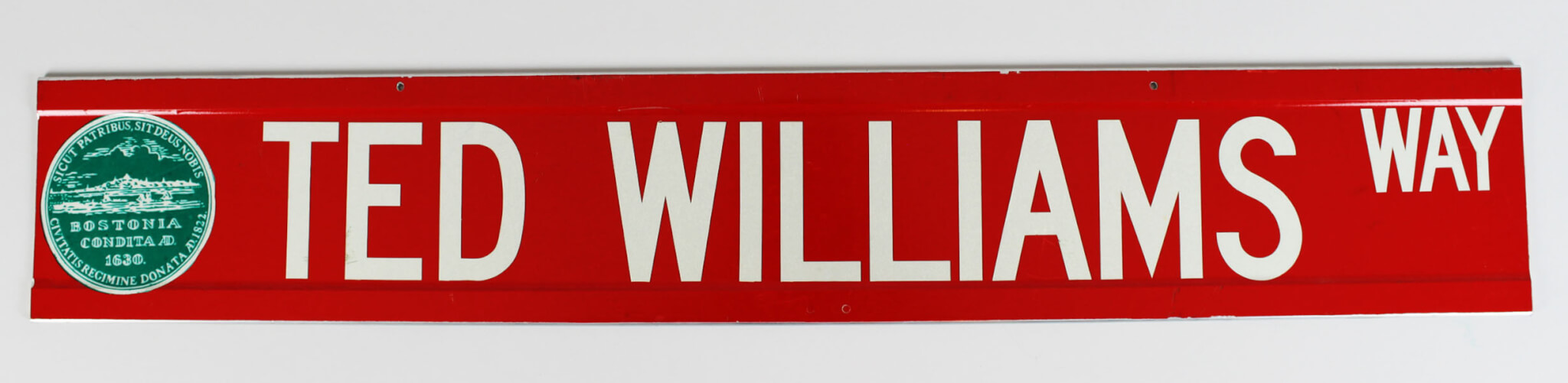 """Boston Red Sox - Ted Williams """" Ted Williams Way """" 6x36 Street Sign"""