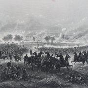 1876 Civil War - Gettysburg: Repulse of Longstreet's Assault - 21x42 Art Engraving by H.B. Hall Jr.