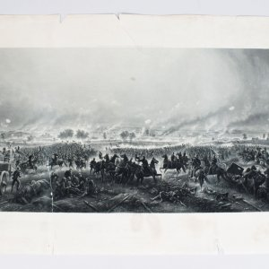 1876 Civil War - Gettysburg: Repulse of Longstreet's Assault - 21x42 Art Engraving by H.B. Hall Jr.