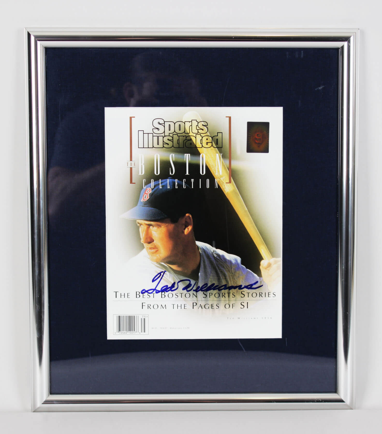 Red Sox - Ted Williams Signed 1997 SI Magazine 15x17 Display - COA JSA