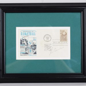 Red Auerbach Signed Cachet Display Boston Celtics Coach - COA JSA