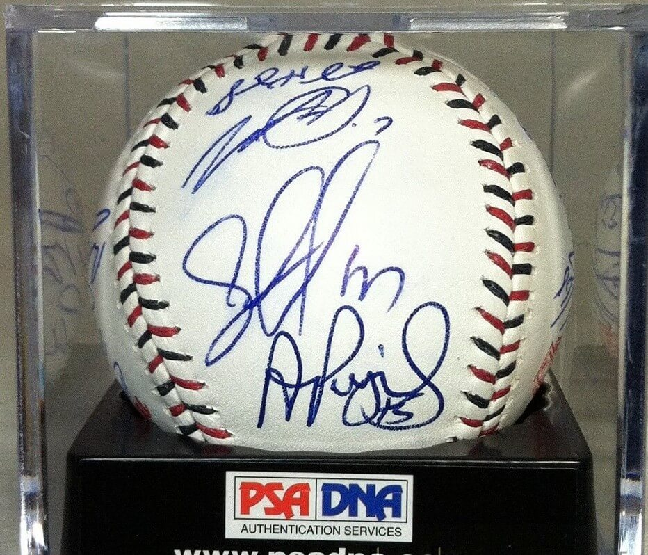 24X SIGNED 2015 ALL STAR GAME BASEBALL PSA/DNA LOA PUJOLS,MIKE TROUT,CHRIS SALE+21More