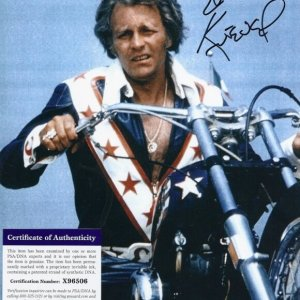 Evel Knievel Signed 8x10 Photo PSA/DNA CERTIFIED