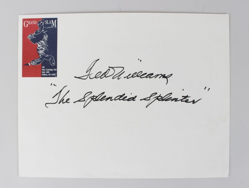 Boston Red Sox Ted Williams Signed 10x13 Envelope