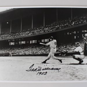 1953 Boston Red Sox Ted Williams Signed 11x14 Photo