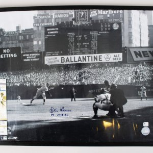 1956 New York Yankees Don Larsen Signed 16x20 Photo & 2012 Ticket