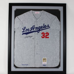 1963 Los Angeles Dodgers Sandy Koufax Signed Jersey in Display