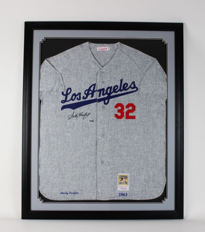 1963 Los Angeles Dodgers Sandy Koufax Signed Jersey Display (UDA)