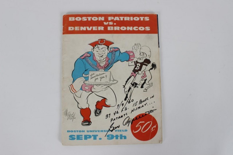Gino Cappeletti Signed & Inscribed 1960 Football Program FIRST AFL Game!- JSA