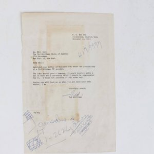 12/14/64 Boston Red Sox - Ted Williams Signed Letter (TLS) With Great Content