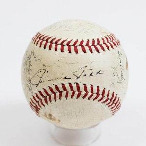 1940 All-Star Team Signed OAL (Harridge) Baseball Jimmie Foxx