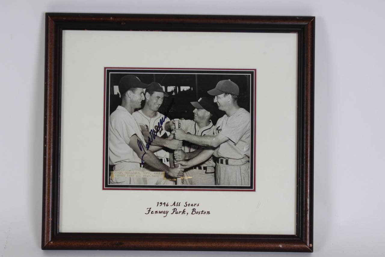 1946 Red Sox - Ted Williams Signed All-Stars at Fenway Park 7x9 AP Wire News Photo - JSA