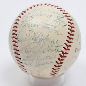 1953 AL All-Star Singed Autographed ONL (Giles) Baseball Incl. Vintage Mickey Mantle
