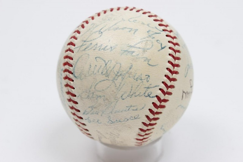1953 AL All-Star Singed Autographed ONL (Giles) Baseball Incl. Vintage Mickey Mantle, Satchel Paige, Nellie Fox etc.