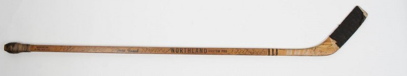 1966-67 Boston Bruins Bobby Orr Game-Used  Northland Custom Pro Rookie Hockey Stick Signed by Team 18 Sigs. Incl. Orr, Bucyk & Parent