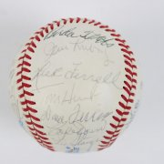1982 Cracker Jack Old Timers' Day Team-Signed OAL Baseball 23 Sigs. - JSA