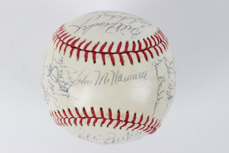 1986 Boston Red Sox Team Signed OAL Baseball 28 Sigs. - Clemens,Boggs etc. - JSA