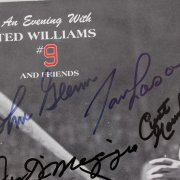 1988 Boston Red Sox - Ted Williams & Friends Jimmy Fund Program Lot of (2) Incl. One Signed by Williams & One Feat. 16 Sigs. Rare John Glenn & Stephen King, Joe DiMaggio, Tip O'Neill etc.