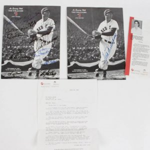 1988 Boston Red Sox - Ted Williams & Friends Jimmy Fund Program Lot of (2) Incl. One Signed by Williams & One Feat. 16 Sigs. Rare John Glenn & Stephen King