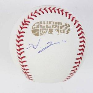 2007 Boston Red Sox - Hideki Okajima Signed WS Baseball (MLB Hologram)