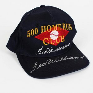 500 Home Run Club Cap Hat Signed by Boston Red Sox Ted Williams
