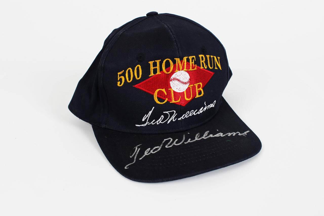 Boston Red Sox Ted Williams Signed 500 Home Run Club Cap Hat - JSA Full LOA