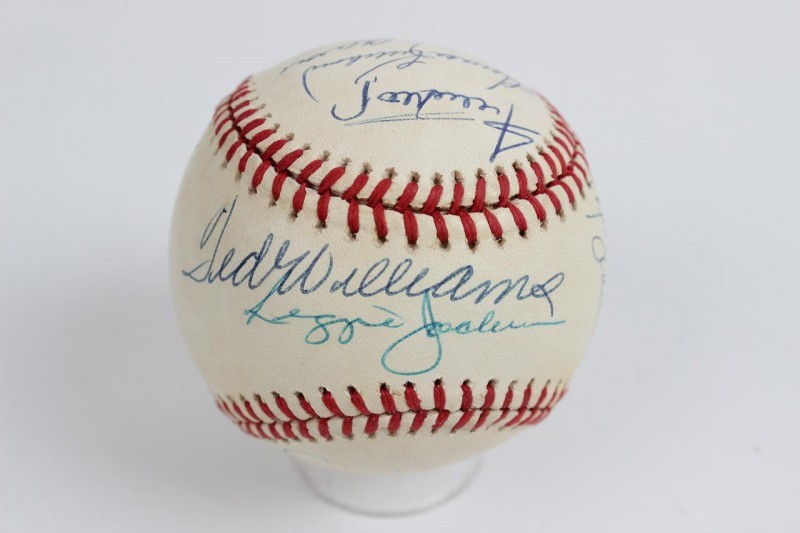 500 Home Run Club Multi-Signed ONL (White) Baseball 11 Autographs Incl. Mickey Mantle, Ted Williams, Hank Aaron, Willie Mays etc.
