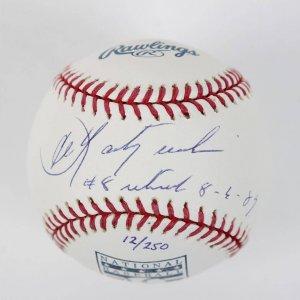Boston Red Sox - Carl Yastrzemski Signed & Inscribed Retired Jersey HOF OML Baseball