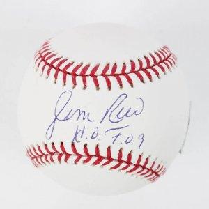 """Boston Red Sox - Jim Rice Signed & Inscribed """"HOF 09"""" OML (Selig) Baseball"""