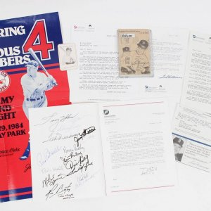 Boston Red Sox - Jimmy Fund Collection Incl. Program Signed by Ted Williams & Others