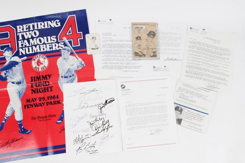 Boston Red Sox - Jimmy Fund Collection Incl. Program Signed by Ted Williams & Others - JSA