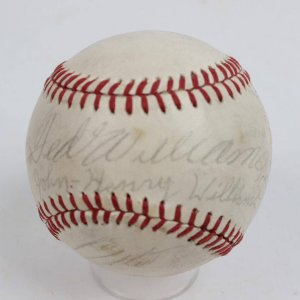Boston Red Sox - Multi-Signed Baseball feat. Ted Williams & Son John Henry Williams +Others